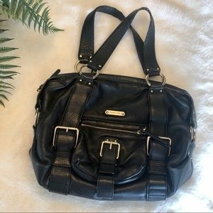 Michael Kors • Black leather purse with buckles